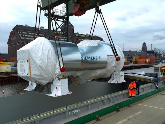 Die ersten Gasturbinen machen sich auf den Weg nach Ägypten / The first gas turbines on their way to Egypt