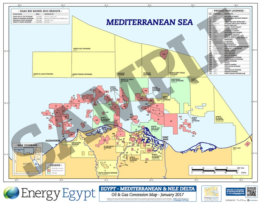 Maps Energy Egypt - Map of egypt's natural resources