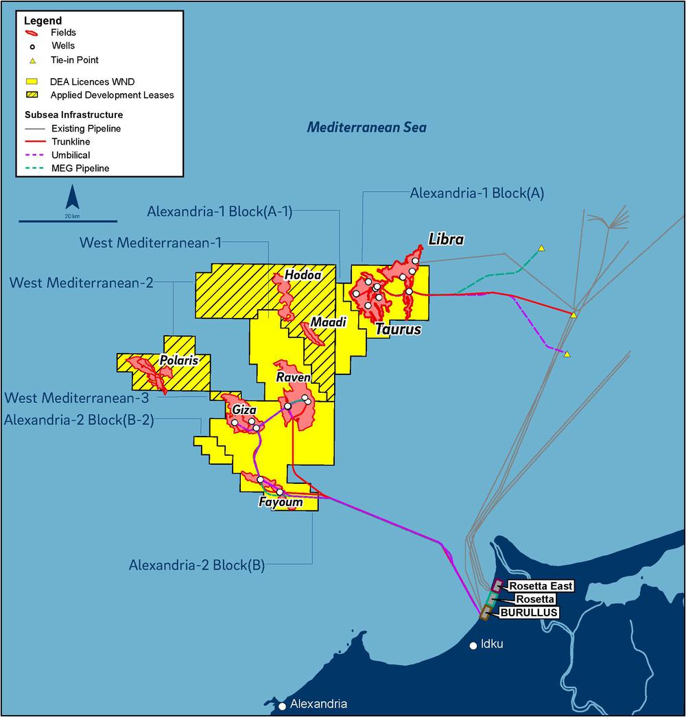 First Gas From West Nile Delta Contributes To DEAs Growth - Map of egypt delta