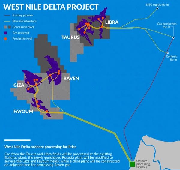 West Nile Delta Energy Egypt - Map of egypt nile delta