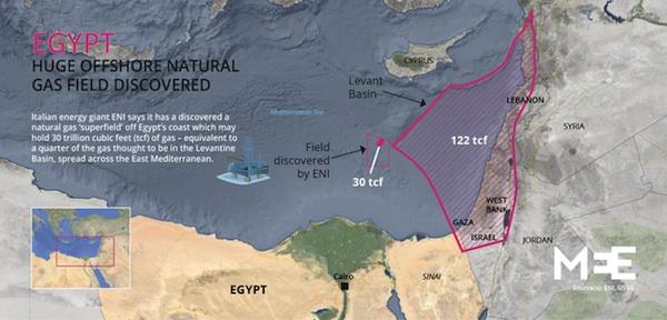 Egypt Zohr Map